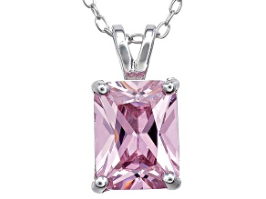 Bella Luce® 3.60ct Diamond Simulant Rhodium Over Silver Pendant With Chain