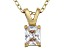 Bella Luce® .64ct Diamond Simulant 18k Gold Over Silver Pendant With Chain