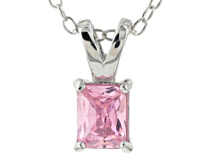 Bella Luce® .69ct Pink Diamond Simulant Rhodium Over Silver Pendant With Chain