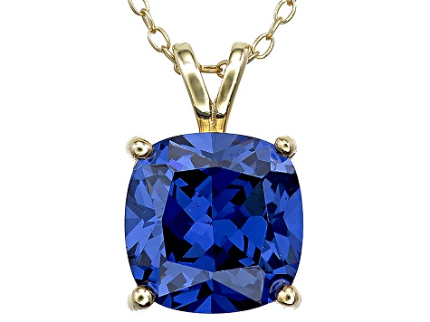 Bella Luce® 6.34ct Tanzanite Simulant 18k Gold Over Silver Pendant With Chain