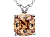Bella Luce® 7.20ct Champagne Diamond Simulant Silver Pendant With Chain
