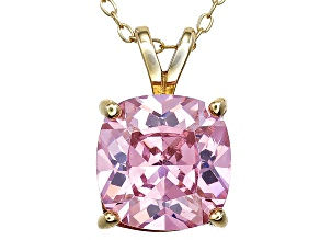 Bella Luce® 6.99ct Pink Diamond Simulant 18k Over Silver Pendant With Chain