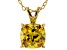 Bella Luce® 4.00ct Yellow Diamond Simulant 18k Over Silver Pendant With Chain