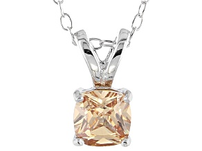 Bella Luce® .99ct Champagne Diamond Simulant Silver Pendant With Chain