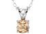 Bella Luce® .99ct Champagne Diamond Simulant Silver Pendant With Chain