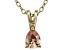 Bella Luce® .53ct Diamond Simulant 18k Gold Over Silver Pendant With Chain