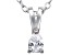 Bella Luce® .23ct Pear Diamond Simulant Rhodium Over Silver Pendant With Chain