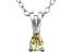 Bella Luce® .49ct Diamond Simulant Rhodium Over Silver Pendant With Chain