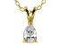 Bella Luce® .61ct Diamond Simulant 18k Gold Over Silver Pendant With Chain