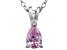 Bella Luce® .63ct Pink Diamond Simulant Rhodium Over Silver Pendant With Chain