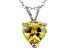 Bella Luce® 4.31ct Diamond Simulant Rhodium Over Silver Pendant With Chain