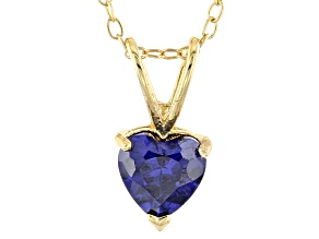 Bella Luce® 1.28ct Tanzanite Simulant 18k Gold Over Silver Pendant With Chain