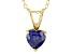 Bella Luce® 1.28ct Tanzanite Simulant 18k Gold Over Silver Pendant With Chain
