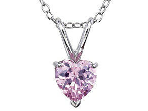 Bella Luce® 1.35ct Diamond Simulant Rhodium Over Silver Pendant With Chain