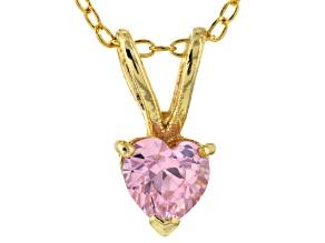 Bella Luce® .76ct Diamond Simulant 18k Gold Over Silver Pendant With Chain