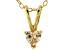 Bella Luce® .45ct Diamond Simulant 18k Gold Over Silver Pendant With Chain