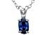 Bella Luce® .63ct Tanzanite Simulant Rhodium Over Silver Pendant With Chain