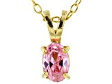 Bella Luce® .65ct Diamond Simulant 18k Gold Over Silver Pendant With Chain