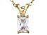 Bella Luce® .80ct Diamond Simulant 18k Gold Over Silver Pendant With Chain