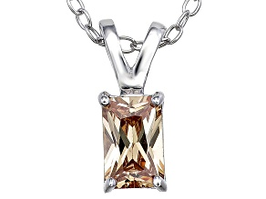 Bella Luce® .88ct Champagne Diamond Simulant Silver Pendant With Chain