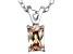 Bella Luce® .88ct Champagne Diamond Simulant Silver Pendant With Chain