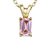 Bella Luce® .90ct Diamond Simulant 18k Gold Over Silver Pendant With Chain
