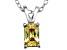 Bella Luce® .82ct Yellow Diamond Simulant Silver Pendant With Chain