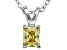Bella Luce® .66ct Yellow Diamond Simulant Silver Pendant With Chain