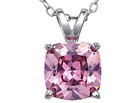 Bella Luce® 3.85ct Diamond Simulant Rhodium Over Silver Pendant With Chain