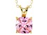 Bella Luce® 3.85ct Pink Diamond Simulant 18k Over Silver Pendant With Chain