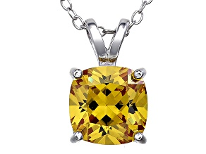 Bella Luce® 4.00ct Yellow Diamond Simulant Silver Pendant With Chain
