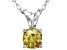 Bella Luce® .93ct Yellow Diamond Simulant Rhodium Over Pendant With Chain