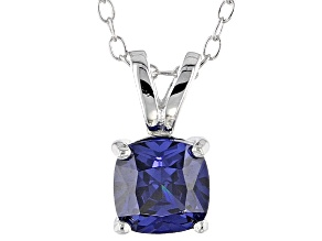 Bella Luce® 1.15ct Tanzanite Simulant Rhodium Over Silver Pendant With Chain