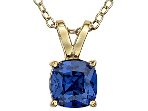Bella Luce® 1.15ct Tanzanite Simulant 18k Gold Over Silver Pendant With Chain