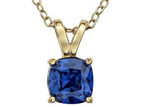 Bella Luce® 1.15ct Tanzanite Simulant 18k Gold Over Silver Pendant With Chain