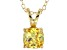 Bella Luce® 1.56ct Yellow Diamond Simulant 18k Over Silver Pendant With Chain