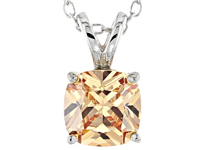 Bella Luce® 2.60ct Champagne Diamond Simulant Silver Pendant With Chain