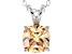 Bella Luce® 2.60ct Champagne Diamond Simulant Silver Pendant With Chain