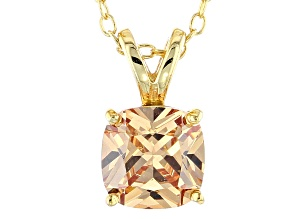 Bella Luce® 2.60ct Diamond Simulant 18k Over Silver Pendant With Chain