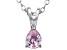 Bella Luce® .50ct Pink Diamond Simulant Rhodium Over Silver Pendant With Chain