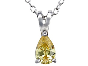 Bella Luce® .61ct Diamond Simulant Rhodium Over Silver Pendant With Chain