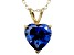 Bella Luce® 5.40ct Tanzanite Simulant 18k Gold Over Silver Pendant With Chain