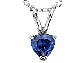 Bella Luce® .72ct Tanzanite Simulant Rhodium Over Silver Pendant With Chain