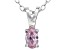 Bella Luce® .38ct Pink Diamond Simulant Rhodium Over Silver Pendant With Chain