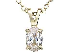 Bella Luce® .70ct Diamond Simulant 18k Gold Over Silver Pendant With Chain