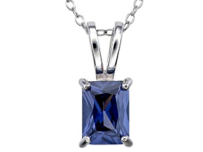 Bella Luce® 2.15ct Tanzanite Simulant Rhodium Over Silver Pendant With Chain
