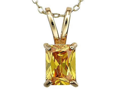 Bella Luce® 2.40ct Yellow Diamond Simulant 18k Silver Pendant With Chain