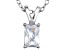 Bella Luce® .80ct Diamond Simulant Rhodium Over Silver Pendant With Chain