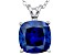 Bella Luce® 6.34ct Tanzanite Simulant Rhodium Over Silver Pendant With Chain