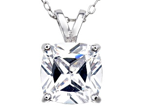Bella Luce® 5.15ct Diamond Simulant Rhodium Over Silver Pendant With Chain